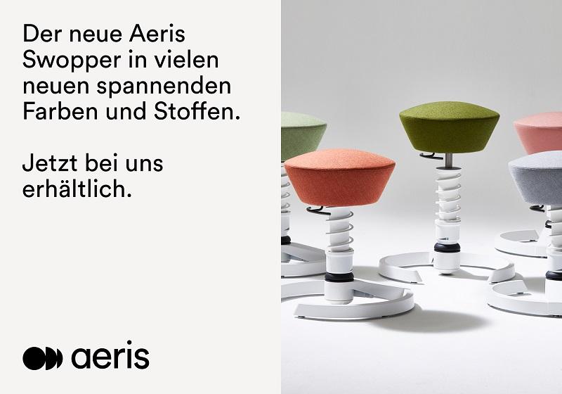 Aeris Swopper Balance Hocker   Gesunder Arbeiten   Ergonomisches Arbeiten   Worktrainer.de