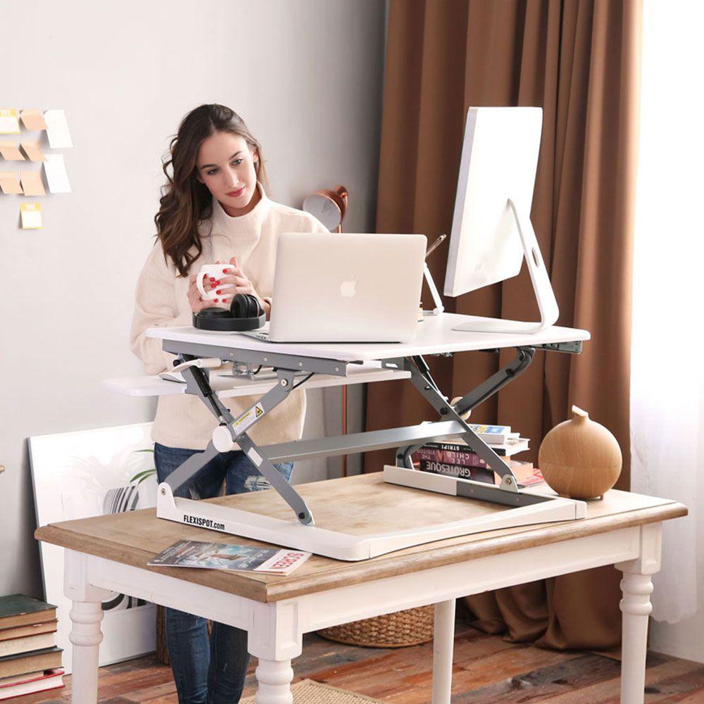 Sitz-Steh-Erhöhung - UPdesk XL - Gasfeder | Effizient, gesund und ergonomisch arbeiten | aktive Körperhaltung| Worktrainer.de | Sitz-Steh-Arbeitsplätze| Platz für zwei Monitore| Laptop mit Monitor |in 3 Sekunden von Sitz- in Stehhöhe gebracht|Bildschirm auf Augenhöhe