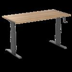 Sitz-Steh-Schreibtisch AluForce 140 - Handkurbel  Manuell verstellbarer Sitz-Steh-Schreibtisch   Gesund und aktiv arbeiten