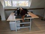 dubbel zit-sta bureau