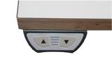 Sitz-Steh-Schreibtisch Ultrajust 1|worktrainer.de|Abwechslung|Bewegung| stehend arbeiten| sitzend arbeiten|elektrisch
