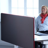 Tischblende - Screenz Akustik| worktrainer.de| Privatsphäre| Konzentration am Arbeitsplatz| Lärmschutz| Ger&#x00e