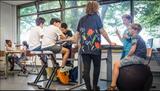 Deskbike im Klassenraum | Effizient, gesund und ergonomisch arbeiten | Deskbike | Worktrainer.de | Schreibtischfahrrad