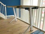 Sitz-Steh-Schreibtisch weiss frame Bleiben Sie fit mit unseren ergonomische höhenverstellbare Schreibtische