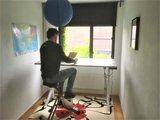 Sitz-Steh-Schreibtisch Y-Desk mit Deskbike Bleiben Sie fit mit unseren ergonomische höhenverstellbare Schreibtische |