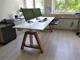 Oak Desk Weiss Elektrisch höhenverstellbarer Schreibtisch   Stehen Sie gesund hinter unseren ergonomischen Arbeitsplatz