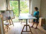 Oak Desk weiss sitz-steh Büro Elektrisch höhenverstellbarer Schreibtisch   Stehen Sie gesund