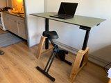 Oak Desk Schwarz Elektrisch höhenverstellbarer Schreibtisch   Stehen Sie gesund hinter unseren ergonomischen Arbeitsplat