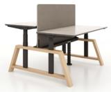 Double Oak Desk Elektrisch höhenverstellbarer Schreibtisch   Stehen Sie gesund hinter unseren ergonomischen Arbeitspl&#x