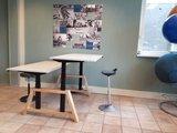 Doppelter sitz-steh Tisch Oak Elektrisch höhenverstellbarer Schreibtisch   Stehen Sie gesund hinter unseren ergonomische