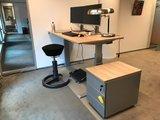 Rollwürfel bei SteelForce 270 sitz-steh Tisch und Swopper Rollwürfel bei Schreibtische   Worktrainer.de