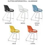 Numo Slitten Aluminium Konferenzstuhl | aktive sitzen| fit auf Arbeitsplatz | Worktrainer.de