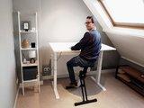 Sitz-Steh-Schreibtisch SteelForce 670 | Sitzen und stehen Sie gesund auf unserem ergnonomischen Schreibtisch| elketrisch H&#x00