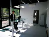 Jordy auf dem Deskbike