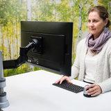 Monitorarm R-Go Caparo  | Zubehör für Ihren Arbeitsplatz|umweltfreundlicher Computerarm|Besuchen Sie Worktrainer.