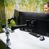 R-Go Zehper Monitor Arm Doppelt | Zubehör für Ihren Schreibtisch Worktrainer.de