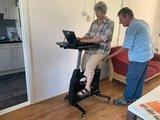 Flexispot Deskbike All-in-one-Schreibtisch Schwarz Schreibtisch fahrrad| Bleiben Sie gesund hinter unseren ergonomischen Arbeit