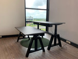 Oak desk elektrisch