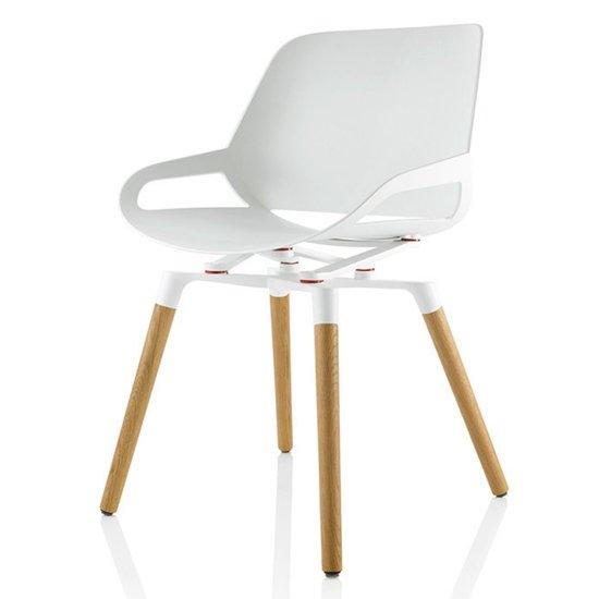 Numo Aktiver Designstuhl mit Holzbeine