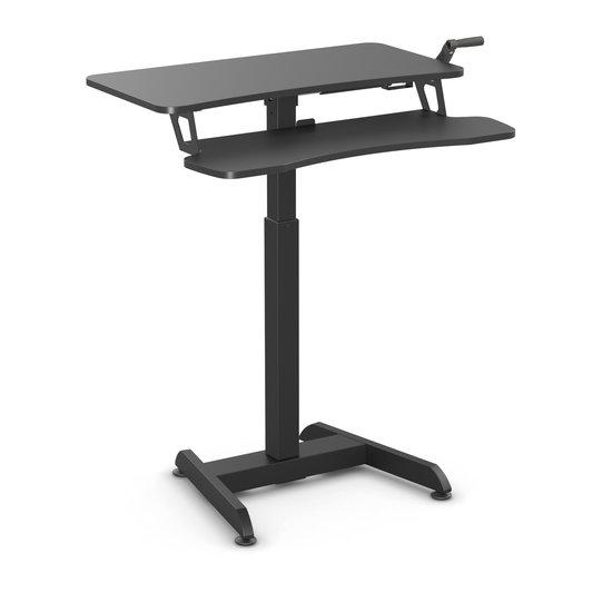 Kleiner Sitz-Steh-Schreibtisch - Updesk High mit Handkurbel