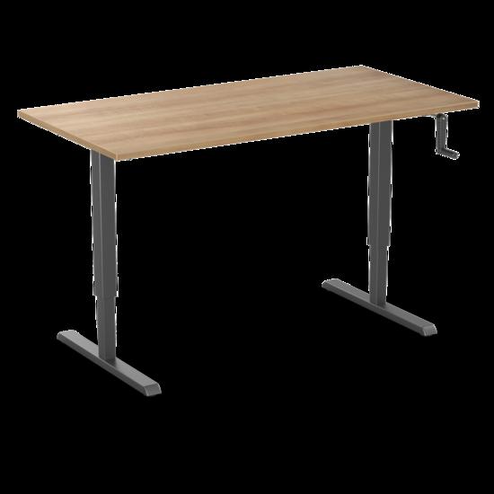 Sitz-Steh-Schreibtisch - SteelForce 210 - Handkurbel