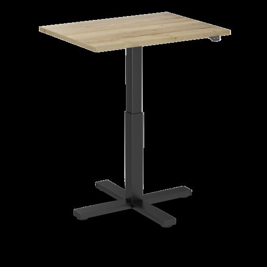 Sitz-Steh-Schreibtisch - SteelForce 370 - Single Column