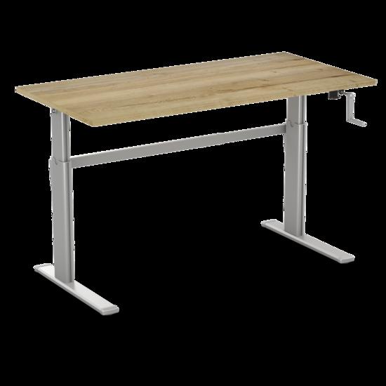 Sitz-Steh-Schreibtisch - AluForce 110 - Handkurbel