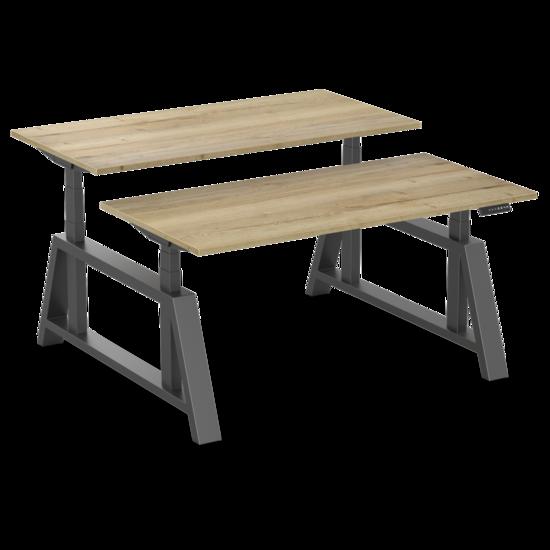 Sitz-Steh-Doppelschreibtisch - OakDesk