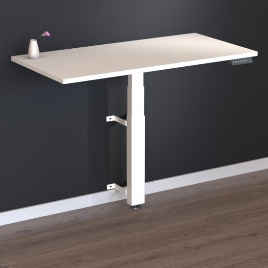 NEU - Kleiner Wand-Sitz-Steh-Tisch - Walldesk elektrisch
