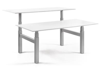 Doppelter Sitz-Steh-Schreibtisch SteelForce 470 Workbench