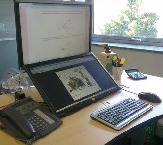 Effizient, gesund und ergonomisch arbeiten |zwei Bildschirme| Worktrainer.de |keine Nackenschmerzen | geringere Belastung