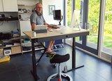 Deskbike Back app en hoekbureau